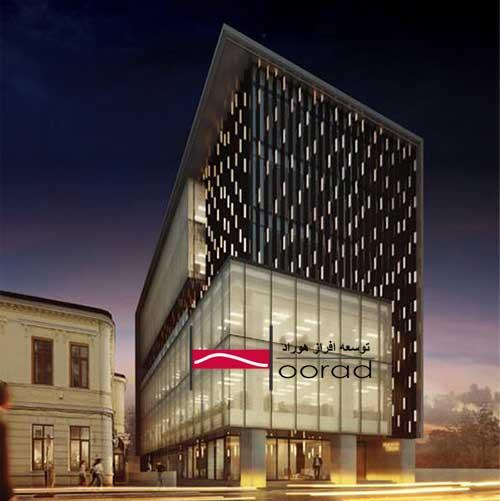 نورپر مدرن نمای ساختمان