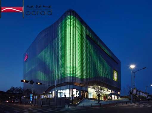 نورپردازی نما به رنگ سبز