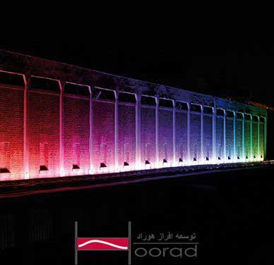 نورپردازی نمای ساختمان با نورافکن