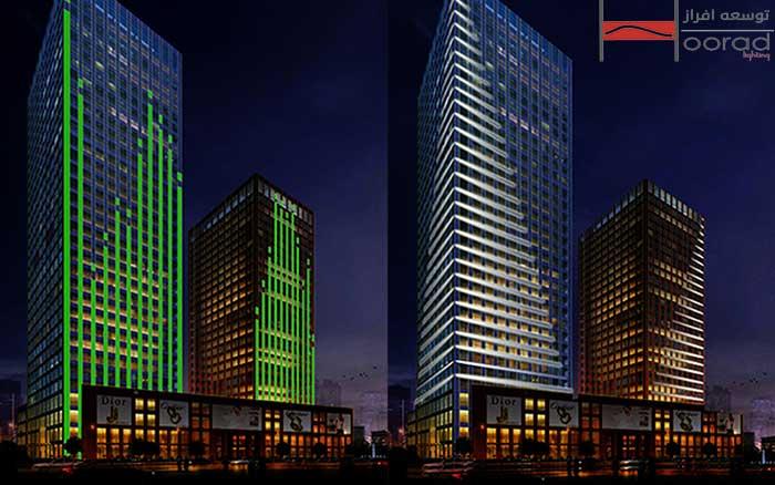 اصول نورپردازی نمای برج ها