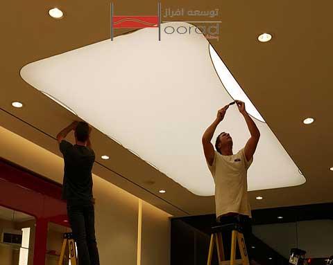 نحوه انتخاب و طراحی پارچه در سقف کشسان