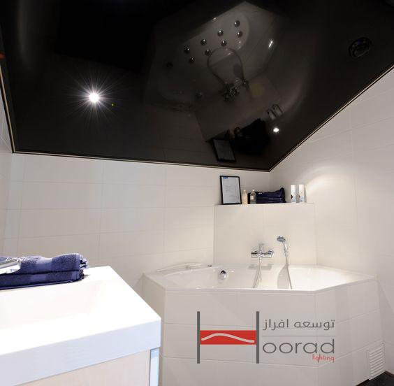 طرح های مختلف سقف کشسان در سرویس بهداشتی و حمام