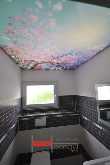 طرح سقف کشسان در سرویس بهداشتی و حمام