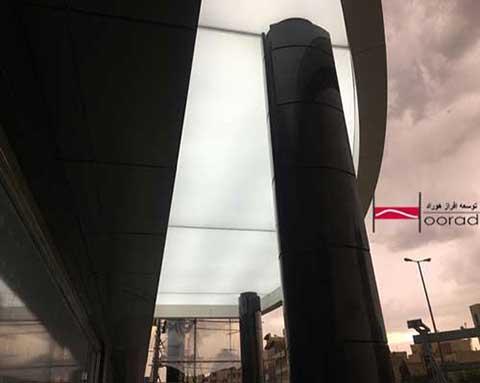 سقف کشسان در محیط های بیرونی ساختمان