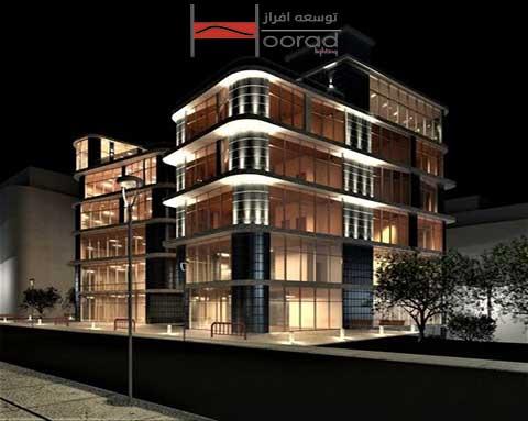 انواع چراغ های نورپردازی نمای ساختمان